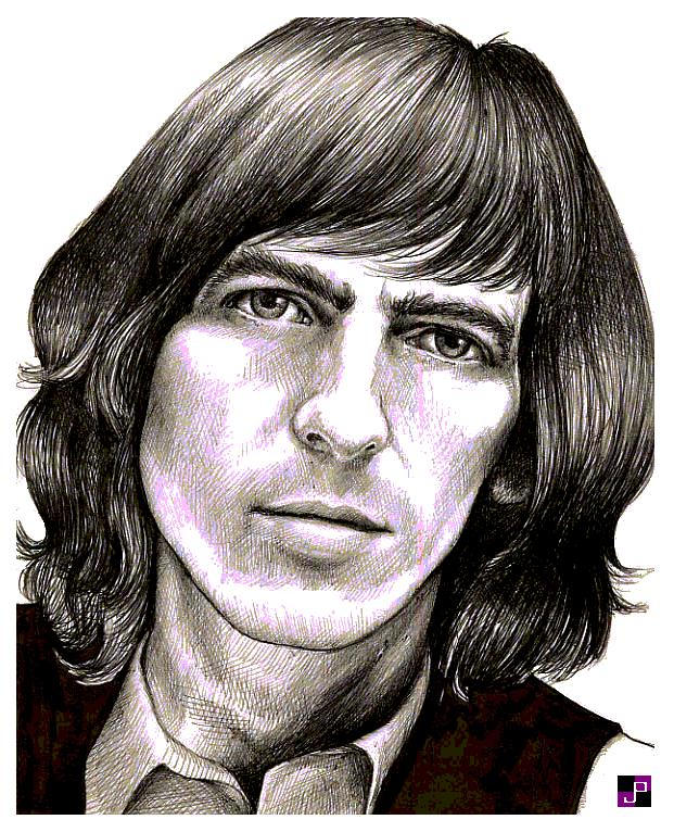 George Harrison - closeup by jade-pandora