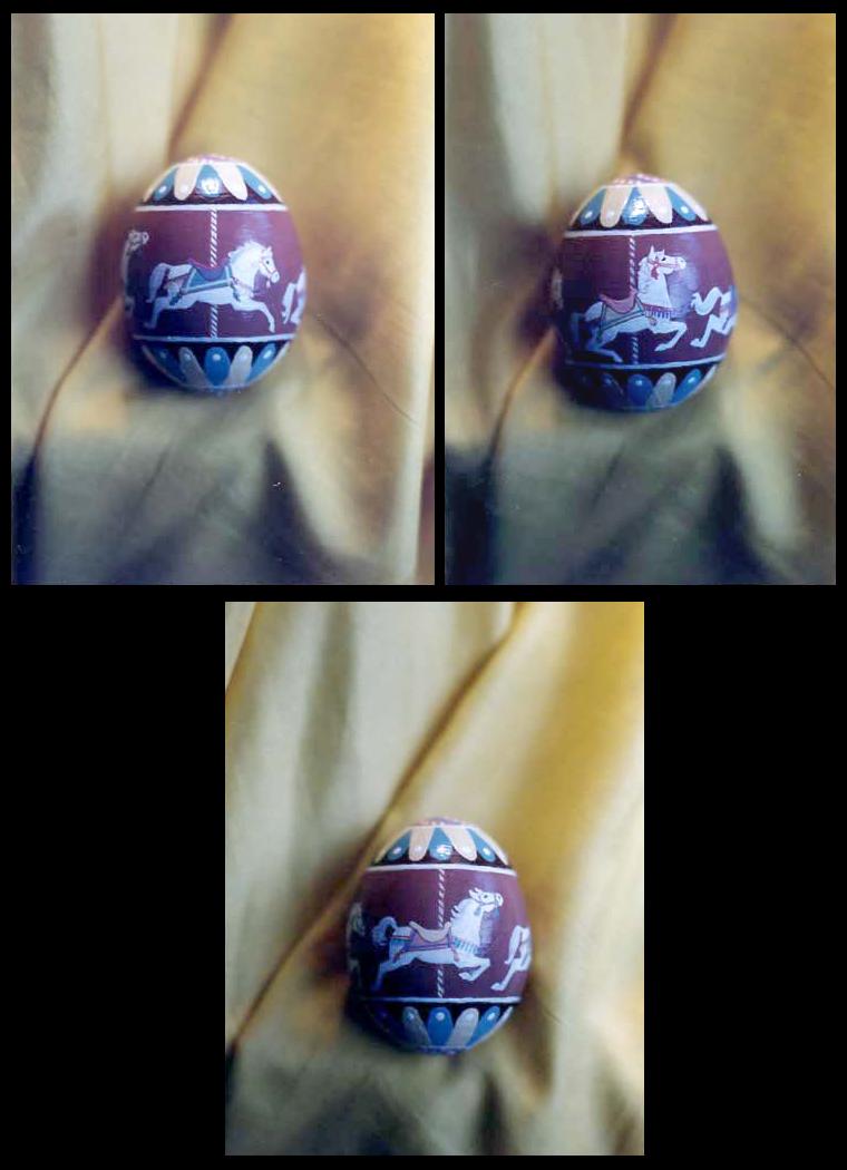 Handpainted Hen Egg - Carousel by Jade-Pandora
