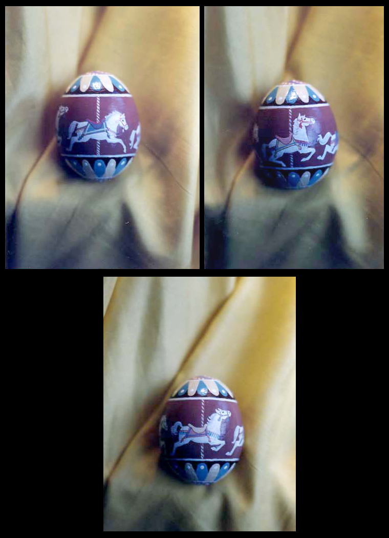 Handpainted Hen Egg - Carousel by Jade-Pandora