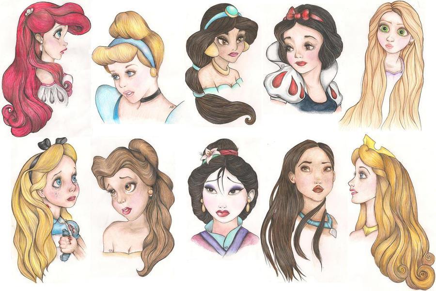 Disney Girls Interpret by ninadown on DeviantArt