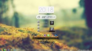 Minimal Desktop With Xwidget By TopXlosz