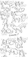 12canines,felines free lineart