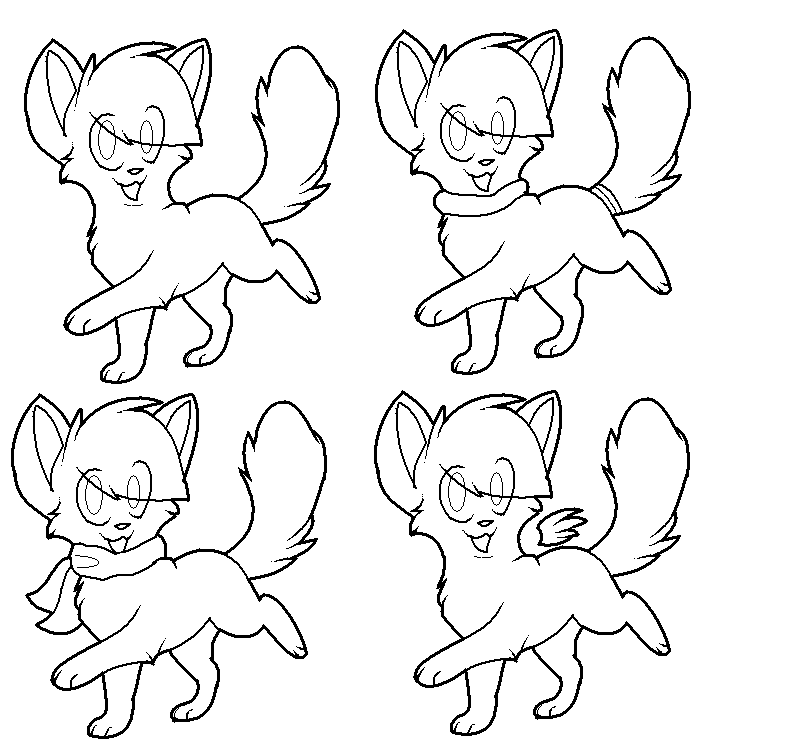 kitten free lineart by zcherozrodesidz