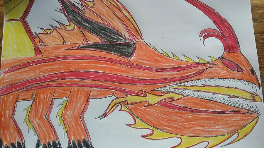 HTTYD Fan Dragon: LEGENDARY Fireworm Princess  by AlphaDeathBiter
