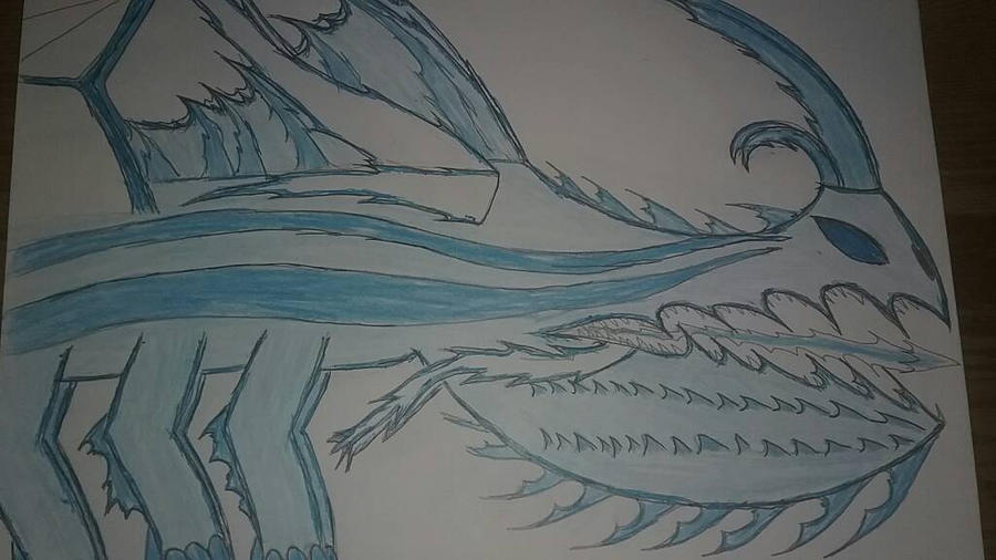 HTTYD Fan Dragon: LEGENDARY Iceworm King by AlphaDeathBiter