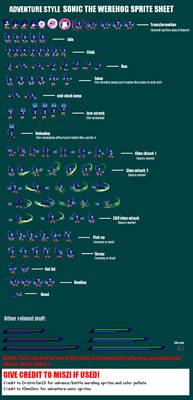 Werehog Sprite sheet