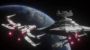 Star Wars Spaceship Wallpaper