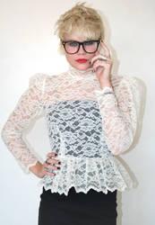 lace blouse by CatDeLaLuna