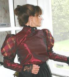 burgundy satin by CatDeLaLuna
