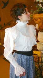 white lace blouse by CatDeLaLuna