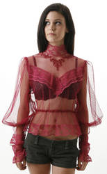 red lace blouse by CatDeLaLuna