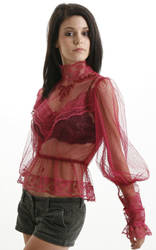red lace blouse 1 by CatDeLaLuna