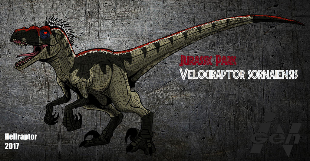 Jurassic Park V.Sornaiensis (new art ) by Hellraptor