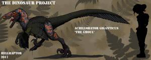 Achillobator giganticus-The Ghoul by HellraptorStudios