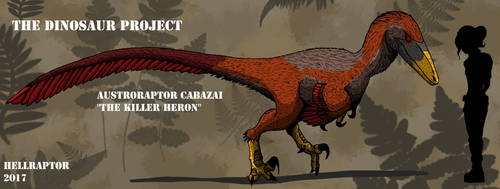 Austroraptor cabazi-The Killer Heron by HellraptorStudios