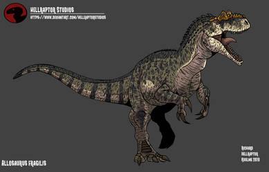 Allosaurus fragilis by HellraptorStudios