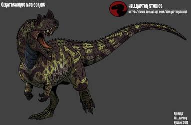 Ceratosaurus nasiconis by HellraptorStudios