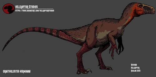 Ornitholestes hermanni by HellraptorStudios