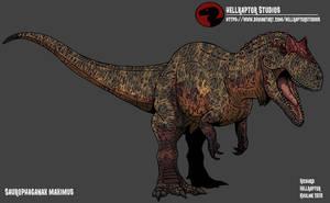 Saurophaganax maximus by HellraptorStudios