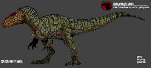 Torvosaurus tanneri by HellraptorStudios