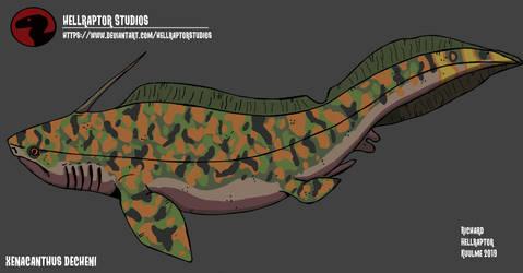 Xenacanthus decheni by HellraptorStudios