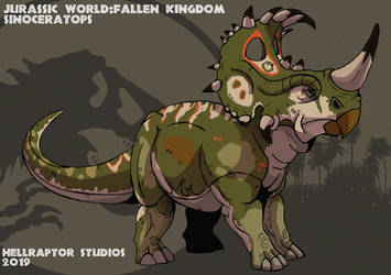 Jurassic World: Sinoceratops by HellraptorStudios