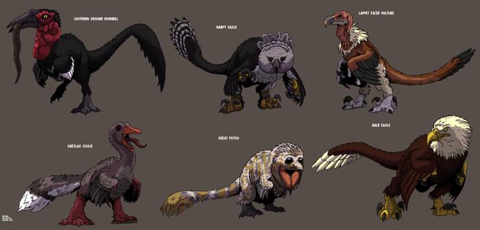Dinofied Birds part 2 Updated !