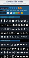 PACK OF 220 VECTOR ICONS OF 5 CATEGORIES