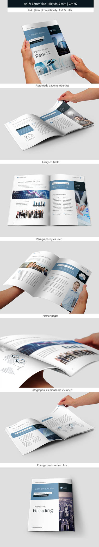 Corporate and Business Brochure IndesignTemplate