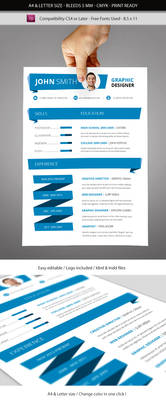 Indesign Resume Template A4 and Letter size