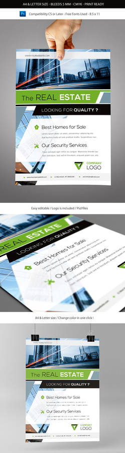 Corporate and Business Commerce Flyer Template A4