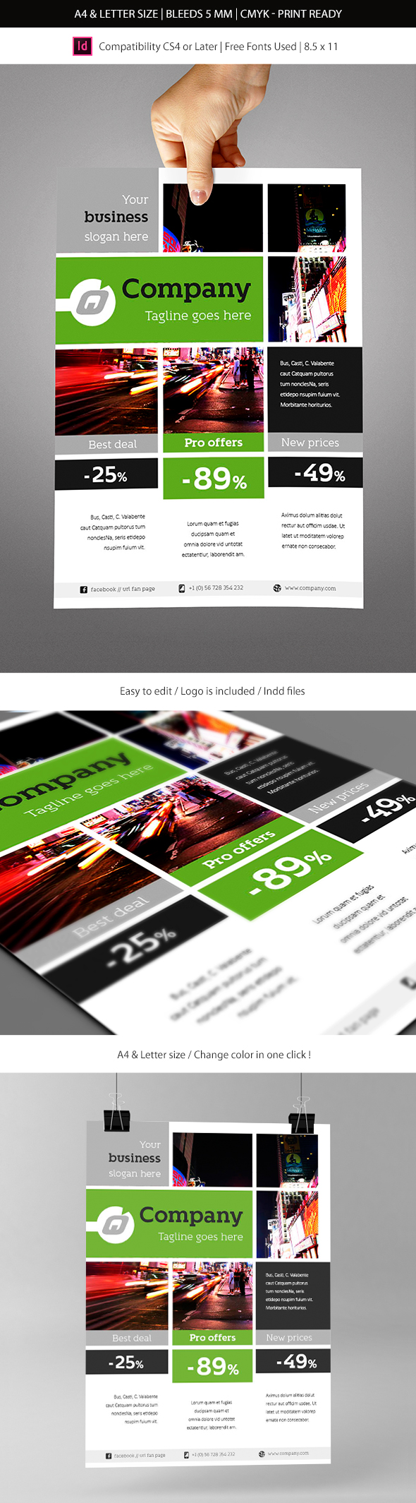 Corporate Business Commerce Flyer Template