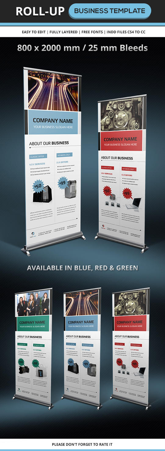 Corporate and Business Rollup Template by renefranceschi