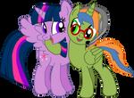 Storm Spark + Princess Twilight Sparkle