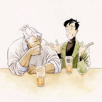 Kunzite and Mamoru walk into a bar