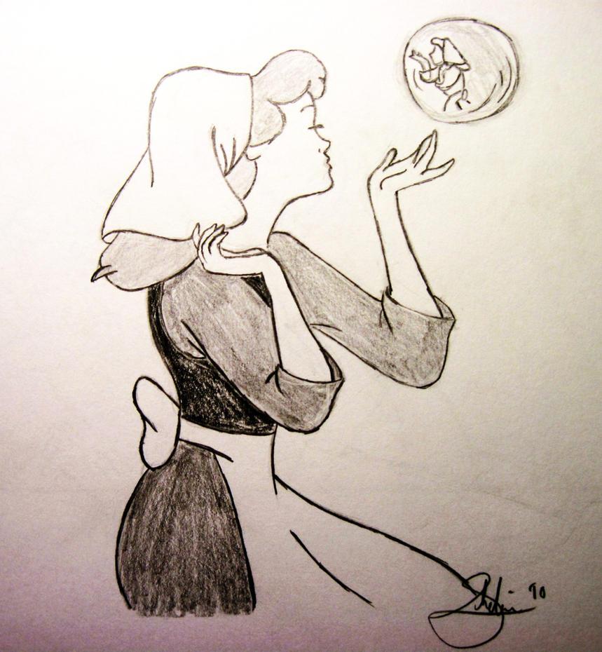 cinderella sketch by waterpolo20 on DeviantArt