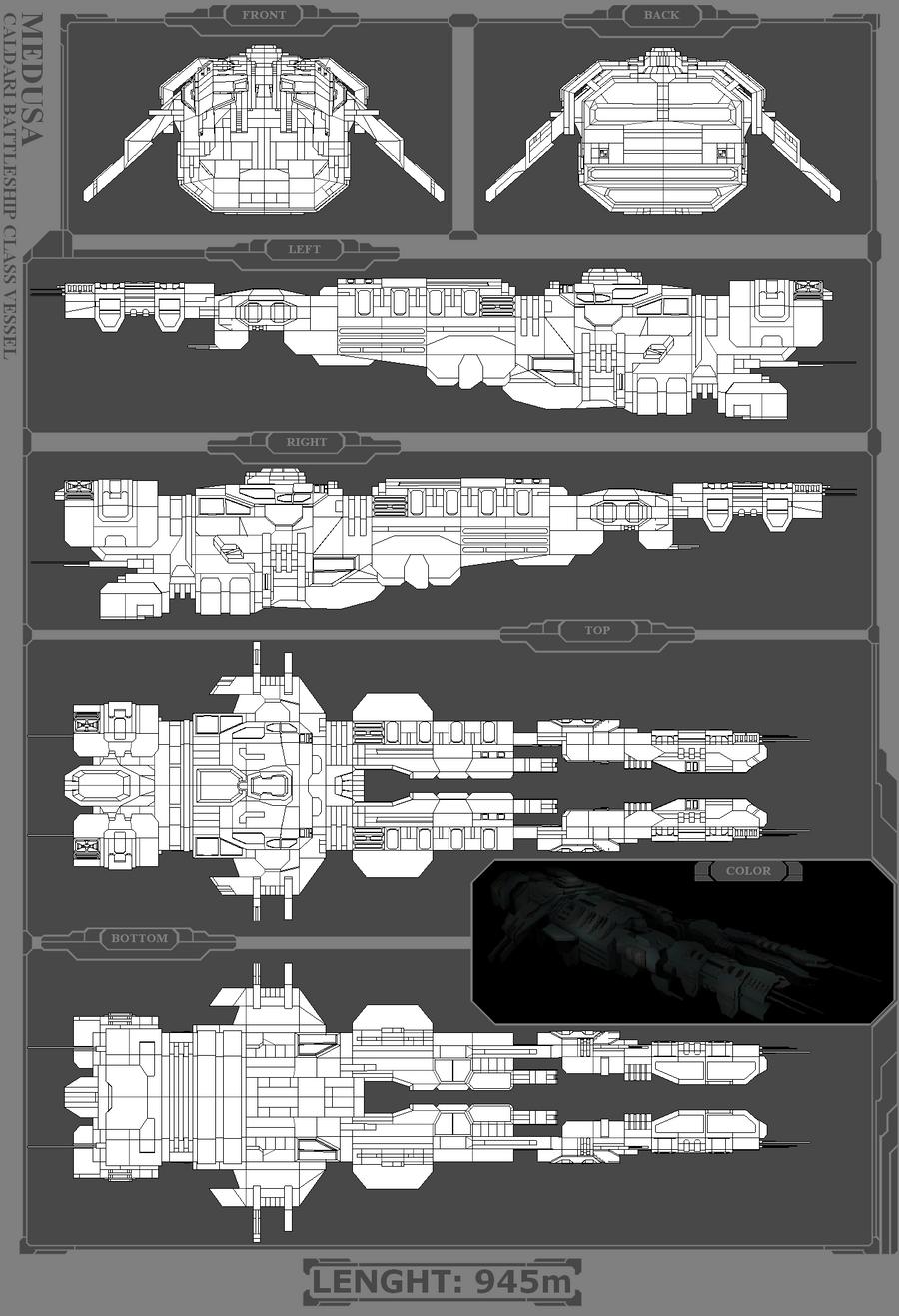 Caldari Battleship -  Medusa by MoonredStarblack