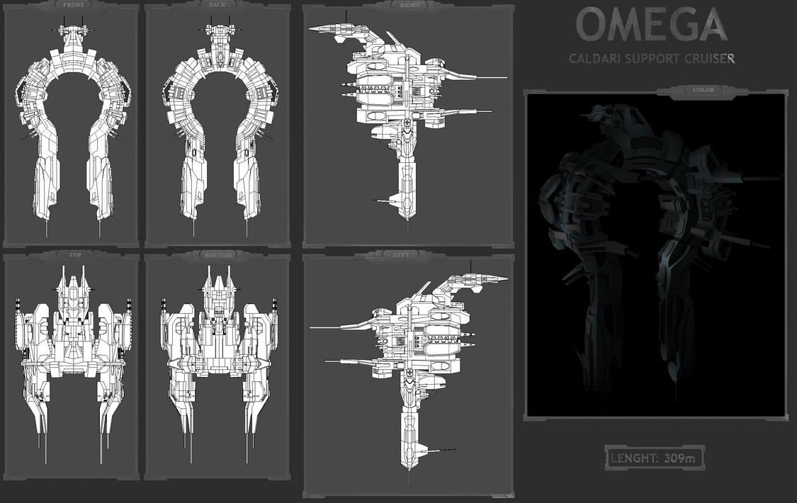 Omega -Caldari Support Cruiser by MoonredStarblack