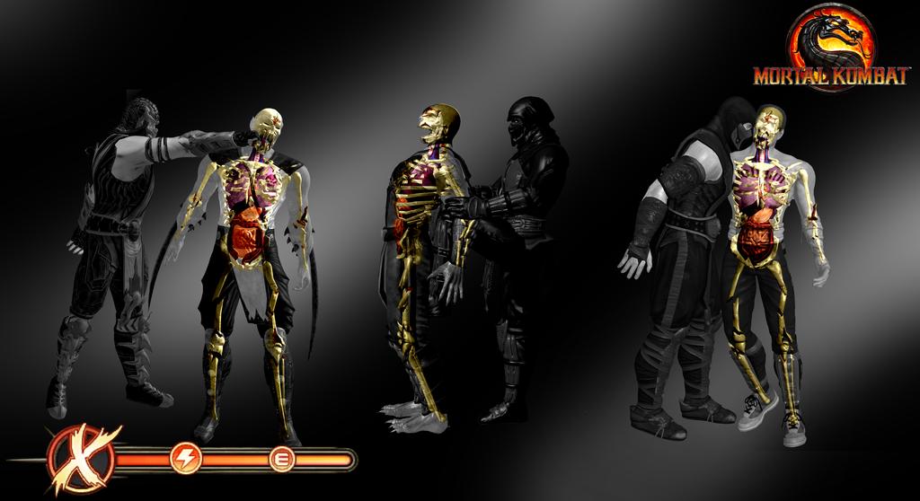 X-Ray Skeletons Pack 1 - Mortal Kombat 9 by romero1718 ...