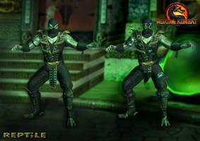 Reptile Alternate - Mortal Kombat 9 by romero1718
