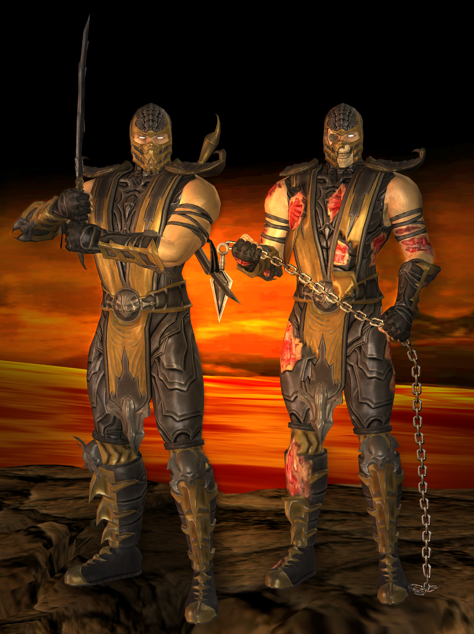 Scorpion Primary - Mortal Kombat 9 by romero1718 on DeviantArt