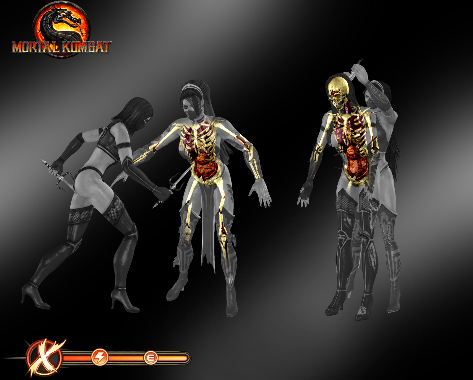 ... X-Ray Skeletons Pack 2 - Mortal Kombat 9 by romero1718