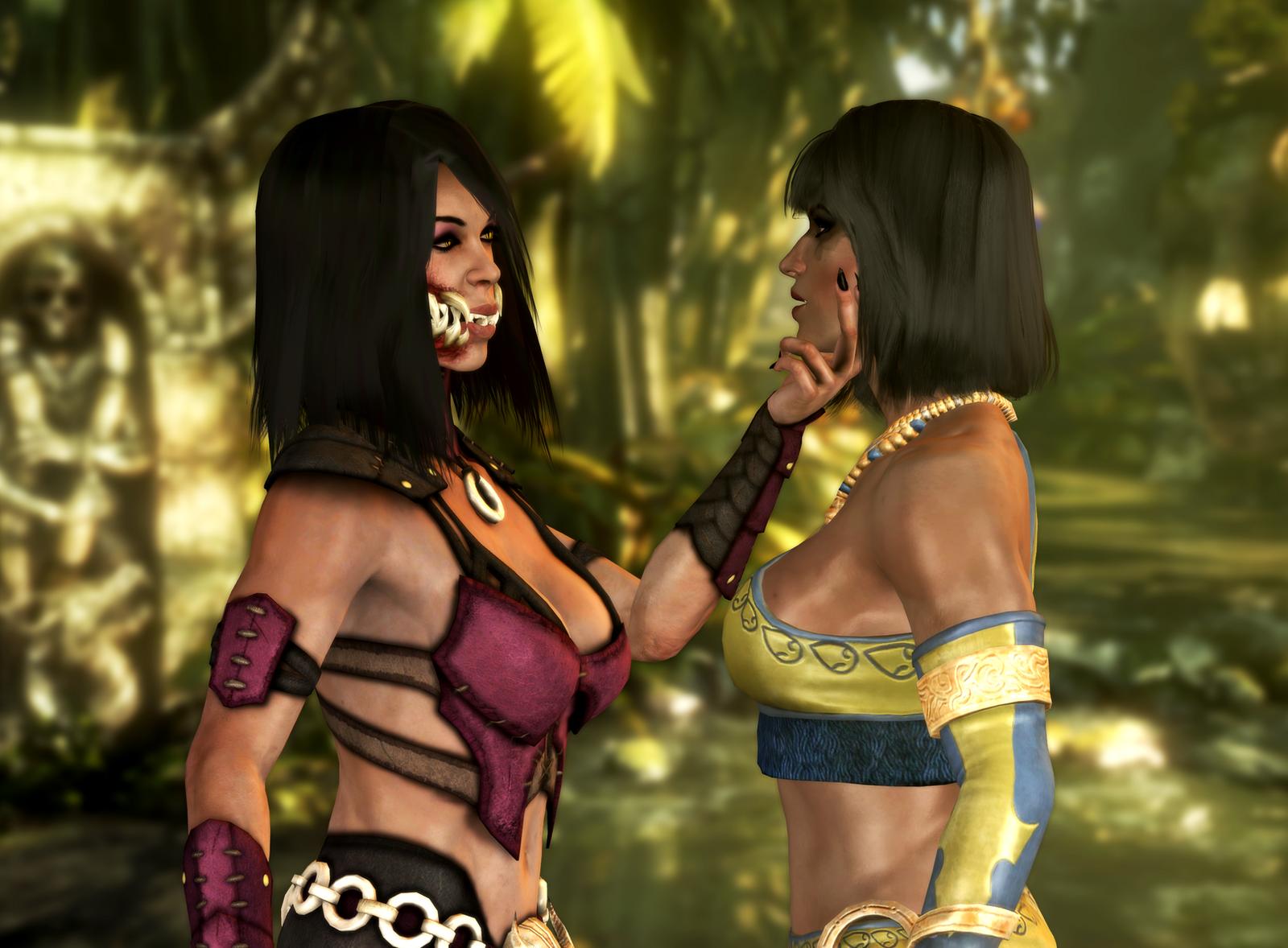 cosplay kitana Mortal kombat hentai