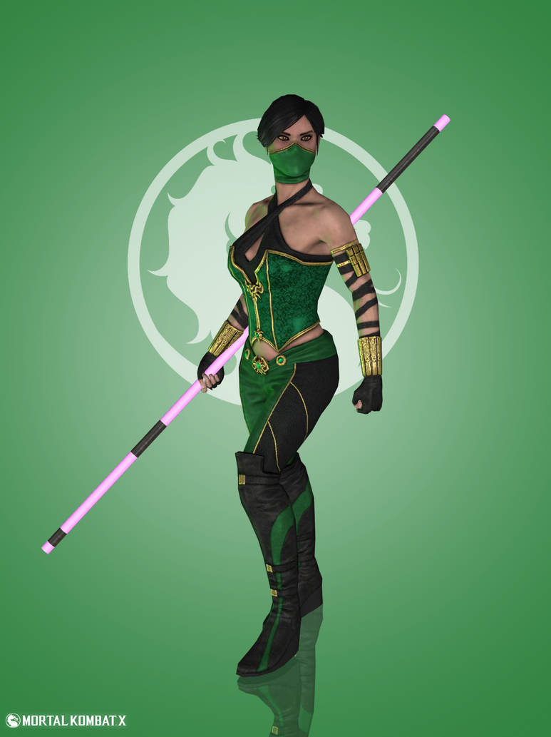 how to draw jade from mortal kombat