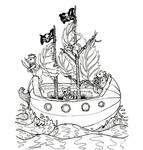 Pirate Mice lineart