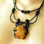 Amber Dragon Necklace