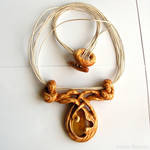 Wooden jewelry - Necklace 1468