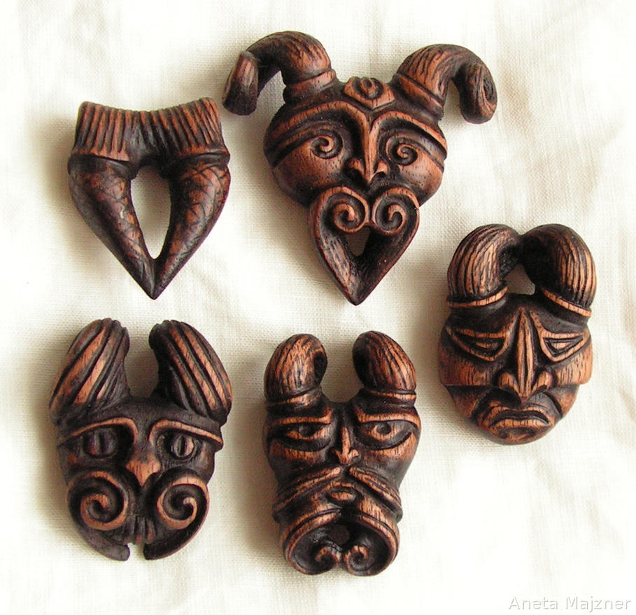 Wooden pendants by ambersculpture on deviantart wooden pendants by ambersculpture aloadofball Gallery
