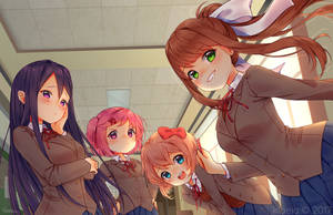 Doki-doki Literature Club! by klaeia
