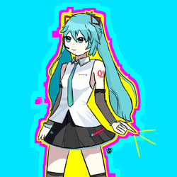 Hatsune Miku does a snap by RossIsHere